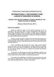internationally recognised core labour standards in nigeria - ITUC