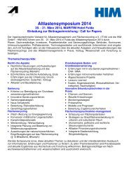 Call for Papers - ITVA