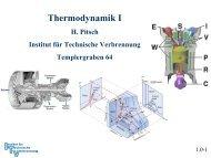 Thermodynamik I - Institut für Technische Verbrennung