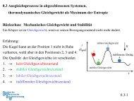 Rückschau: Mechanisches Gleichgewicht und Stabilität Erfahrung ...