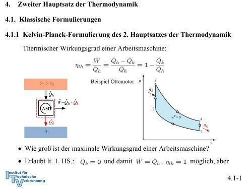 Kelvin Planck Formulierung Des 2 Hauptsatzes Der Thermodynamik
