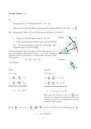 Lösung Aufgabe 1.1 a) Ausgangspunkt (2. Newtonsches Gesetz ...