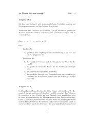 22. ¨Ubung Thermodynamik II Blatt 1/2 Aufgabe 4.8.3 Ein Gas vom ...