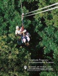 Graduate Programs in Environmental Science - Indiana University