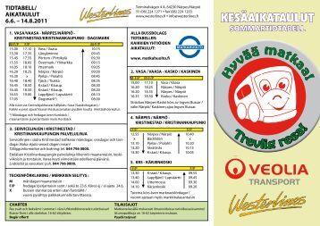 aikataulut 6.6. - Veolia Transport