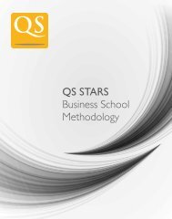 QS STARS Business School Methodology