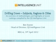 Trusted. Independent. Global. - QS Intelligence Unit