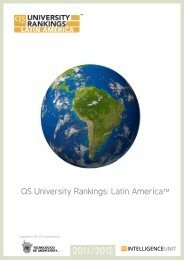 QS University Rankings: Latin AmericaTM - QS Intelligence Unit
