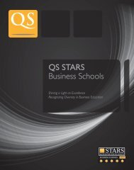 QS STARS Business Schools - QS Intelligence Unit