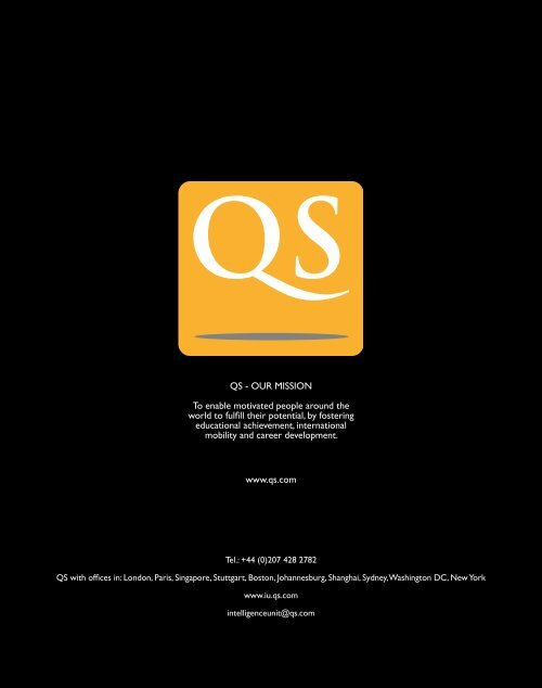 to download our latest brochure - QS Intelligence Unit