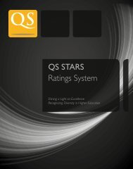 QS STARS Ratings System - QS Intelligence Unit