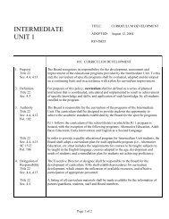 105 — Curriculum Development - Intermediate Unit 1