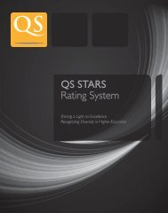QS STARS Rating System - QS Intelligence Unit