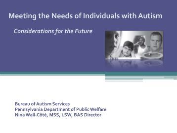 Meeting the Needs of Individuals with Autism - Intermediate Unit 1