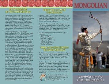 MONGOLIAN - Indiana University Bloomington