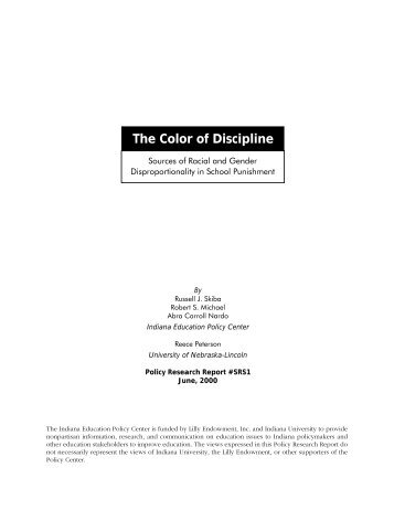 The Color of Discipline - Indiana University