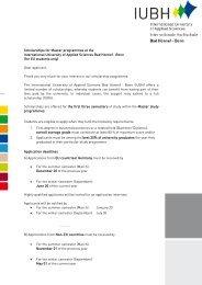 Scholarship Master Applicants - IUBH