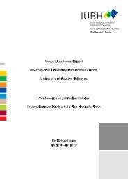 Akademischer Jahresbericht 2012 - IUBH