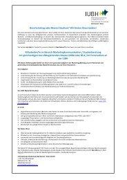 Mitarbeiter/in im Bereich Marketingkommunikation ... - IUBH