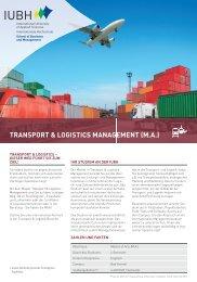 Transport & Logistics Management (M.A.) - Übersicht (2.93 MB) - IUBH