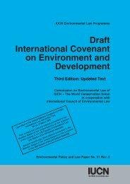 Draft International Covenant on Environment and Development - IUCN