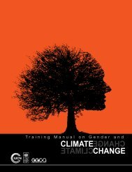 GGCA Gender and Climate Change Training Manual - Women's ...