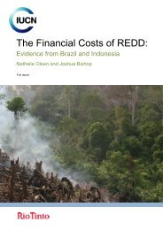 The financial costs of REDD : Evidence from Brazil and Indonesia
