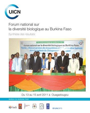 Forum national sur la diversité biologique au Burkina Faso - IUCN