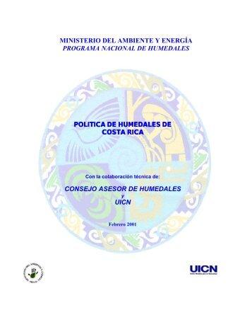 ministerio del ambiente y energía programa nacional de ... - IUCN