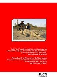 Elevage et Conservation des - Crocodile Specialist Group