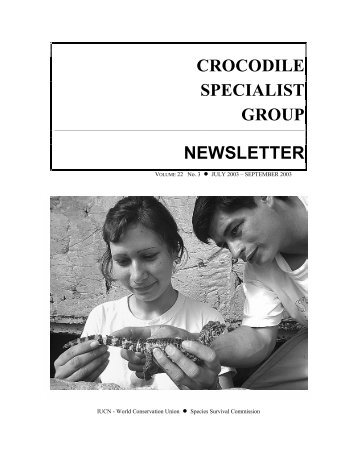 CROCODILE SPECIALIST GROUP NEWSLETTER