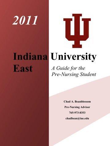 Pre Nursing Handbook - Indiana University East