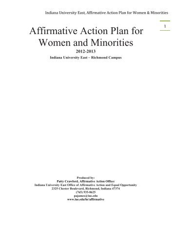 Affirmative Action Plan For Minorities And Women  Planetary Science