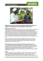 Sierra Leone - Ingeniører uden Grænser