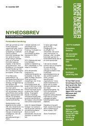 NYHEDSBREV - Ingeniører uden Grænser