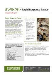 EWB•DKRapid Response Roster - Ingeniører uden Grænser