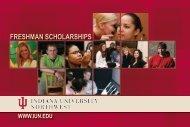 Freshman Scholarships - Indiana University Northwest