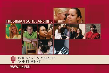 Freshman Scholarships - Indiana University Northwest