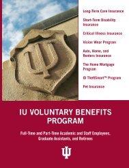 IU VOLUNTARY BENEFITS PROGRAM - Indiana University