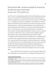 Re-living Sylvia Plath: The Poetess, the Myth, the American