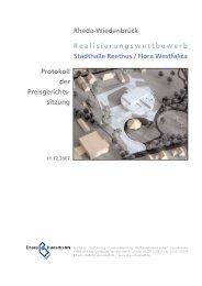 Realisierungswettbewerb Stadthalle Reethus ... - Dhp-sennestadt.de
