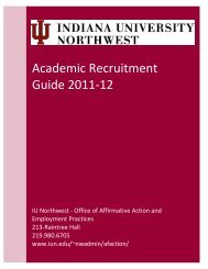 Academic Recruitment Guide - Indiana University Northwest