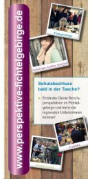 Perspektive-Fichtelgebirge.de - Flyer zum Schülerportal