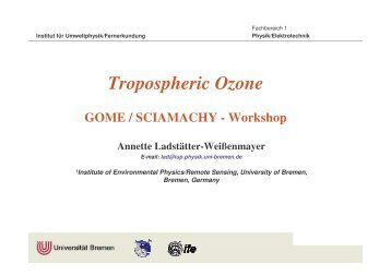GOME Tropospheric Excess Ozone in the Tropics - IUP