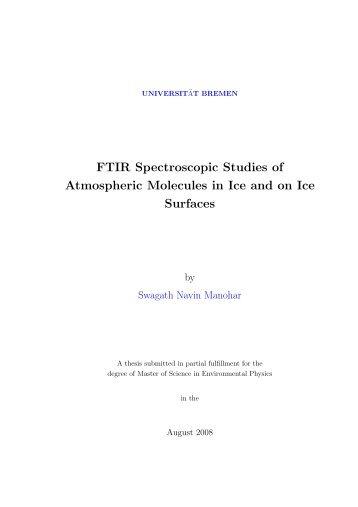 FTIR Spectroscopic Studies of Atmospheric Molecules in Ice ... - IUP