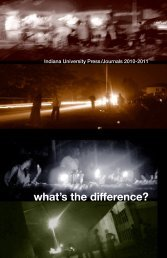 what's the difference? - Indiana University Press