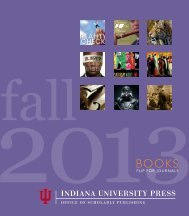 Fall 2013 - Indiana University Press