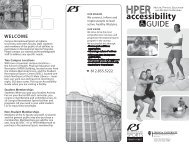 SPHB Accessibility Guide - IU Campus Recreational Sports