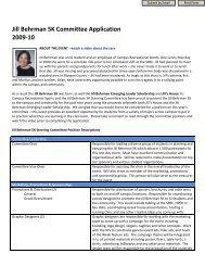 Jill Behrman 5K Committee Application 2009-10 - IU Campus ...
