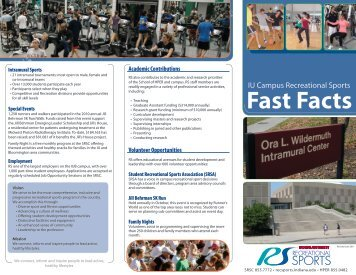 Fast Facts - IU Campus Recreational Sports